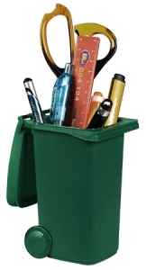 Dustbin Pen Holder