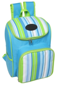 Striped Picnic Backpack (4 persons)