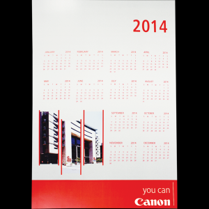 Wall Calendar with full colour print (1 page) (A3)